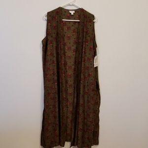 Lularoe joy sleeveless long vest size L